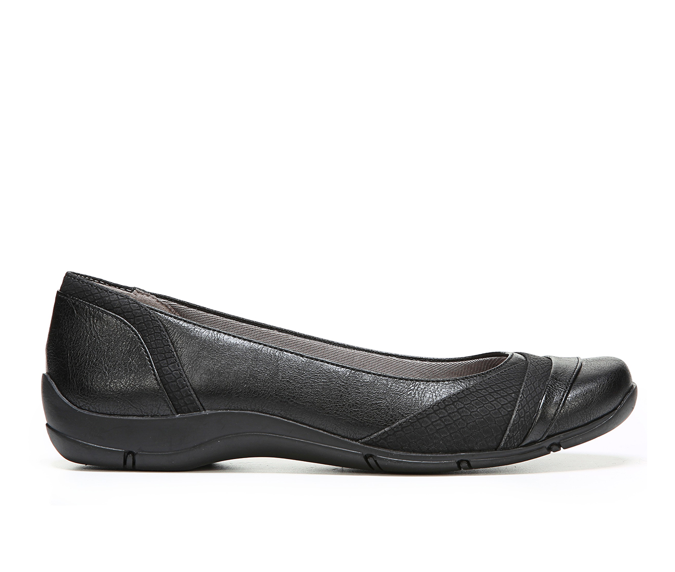 LifeStride Dig Women's Shoe (Black Faux Leather)