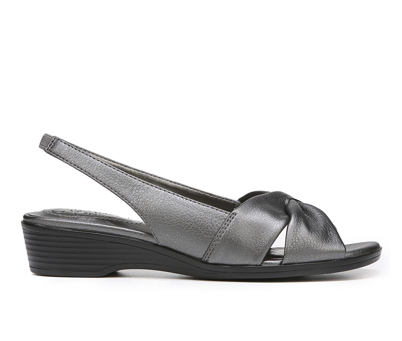 LifeStride Mimosa 2 Women's Sandal (Gray Faux Leather)