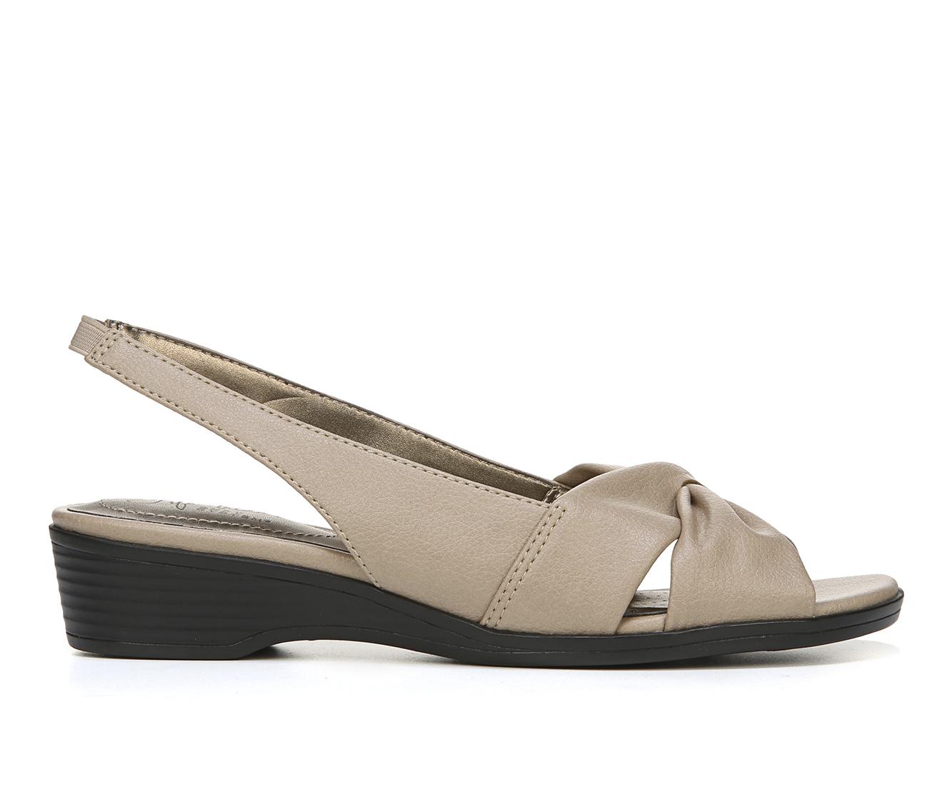 LifeStride Mimosa 2 Women's Sandal (Beige Faux Leather)