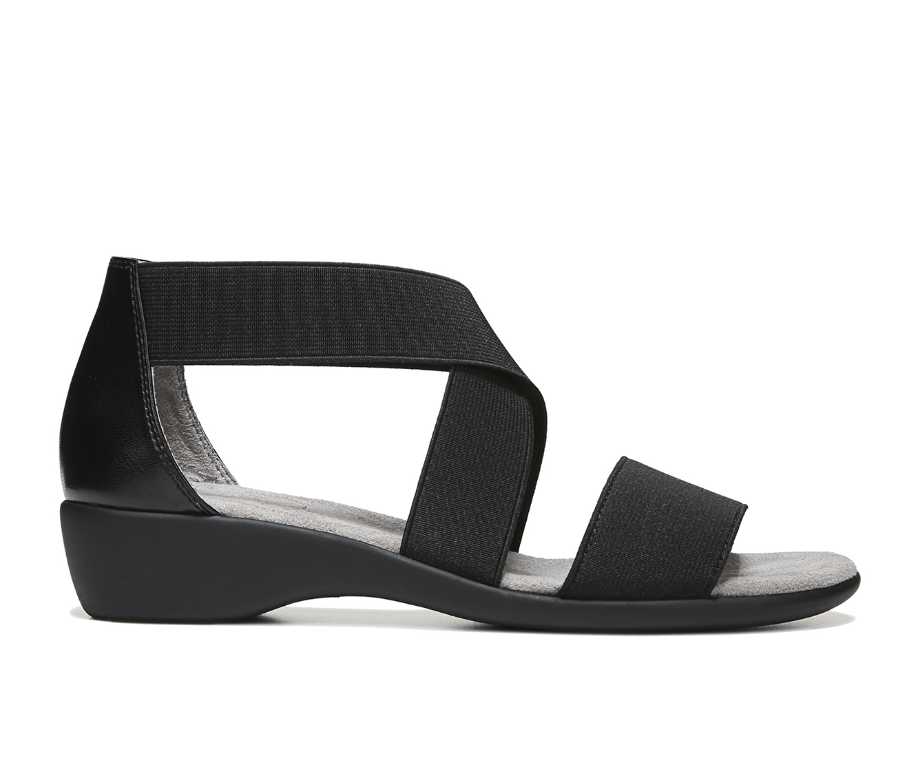 LifeStride Tellie Women's Sandal (Black Canvas)