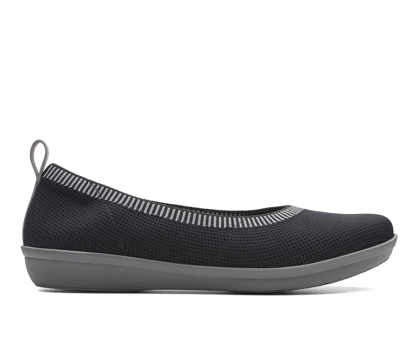 Clarks Ayla Form Women's Shoe (Black Canvas)