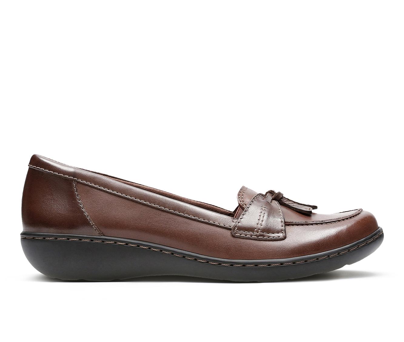 Clarks Ashland  Bubble Women's Shoe (Brown Leather)
