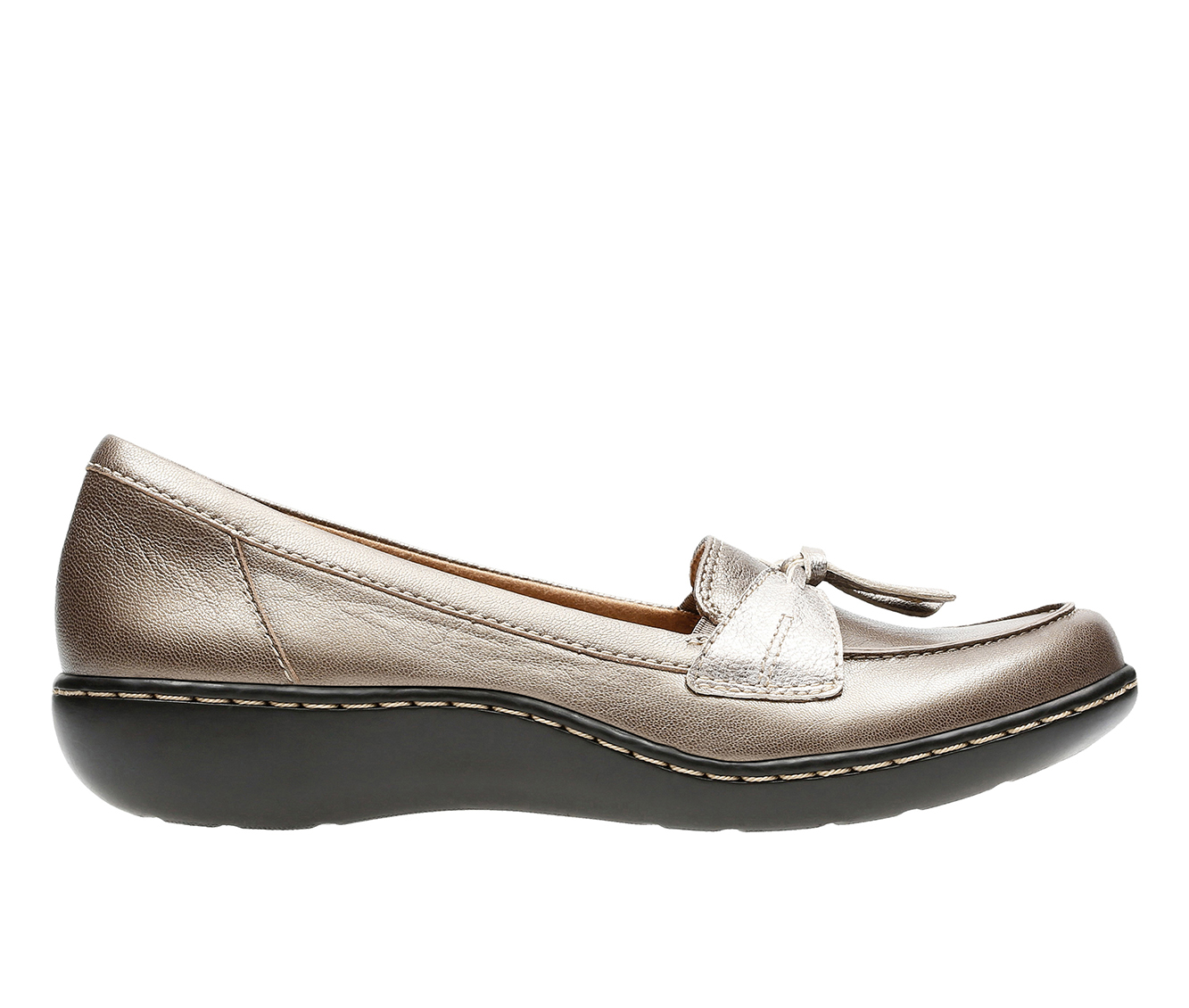Clarks Ashland  Bubble Women's Shoe (Silver Leather)