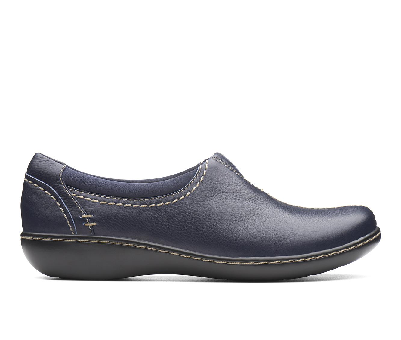 Clarks Ashland Joy Women's Shoe (Blue Leather)