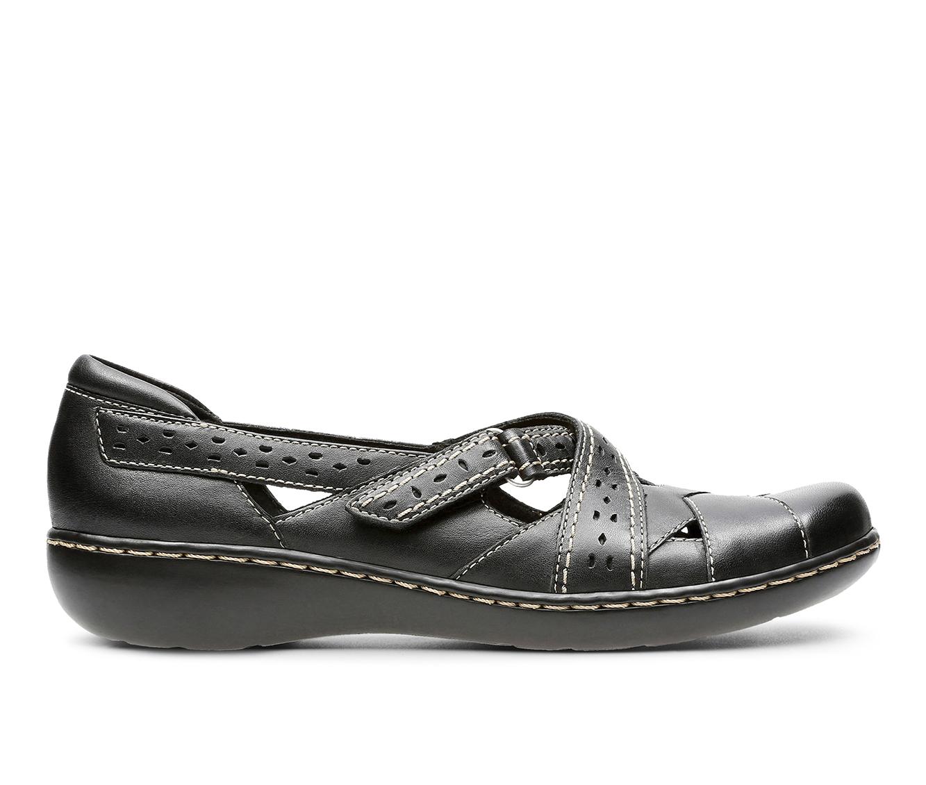 Clarks Ashland Spin Q Women's Shoe (Black Leather)