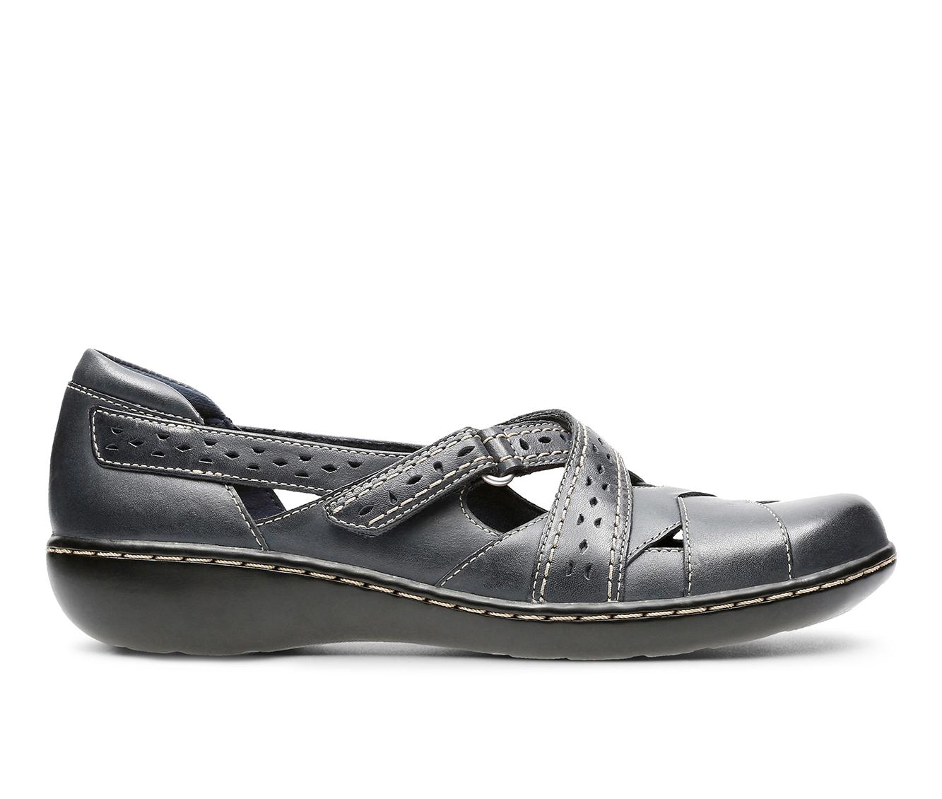 Clarks Ashland Spin Q Women's Shoe (Blue Leather)