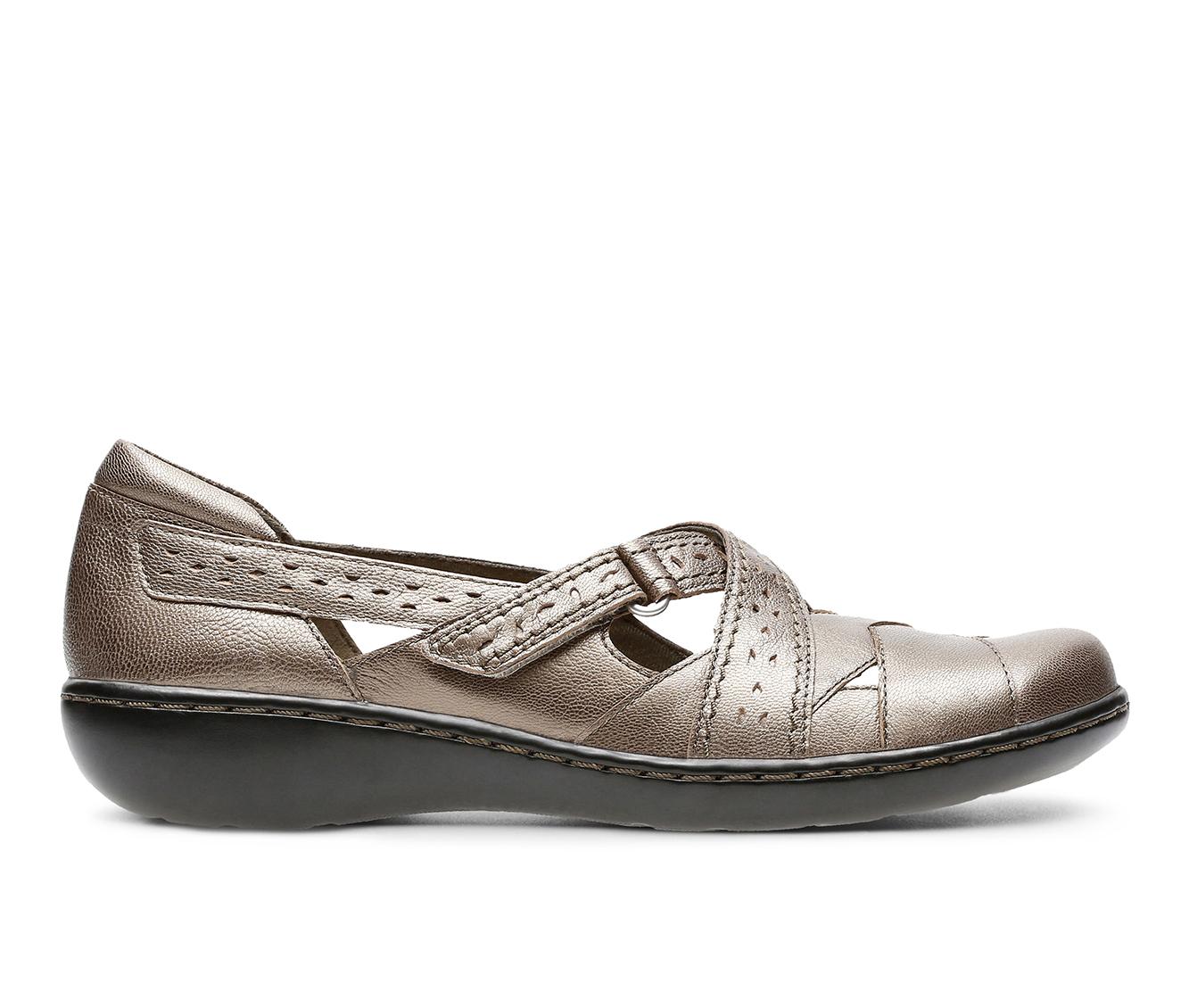 Clarks Ashland Spin Q Women's Shoe (Gray Leather)