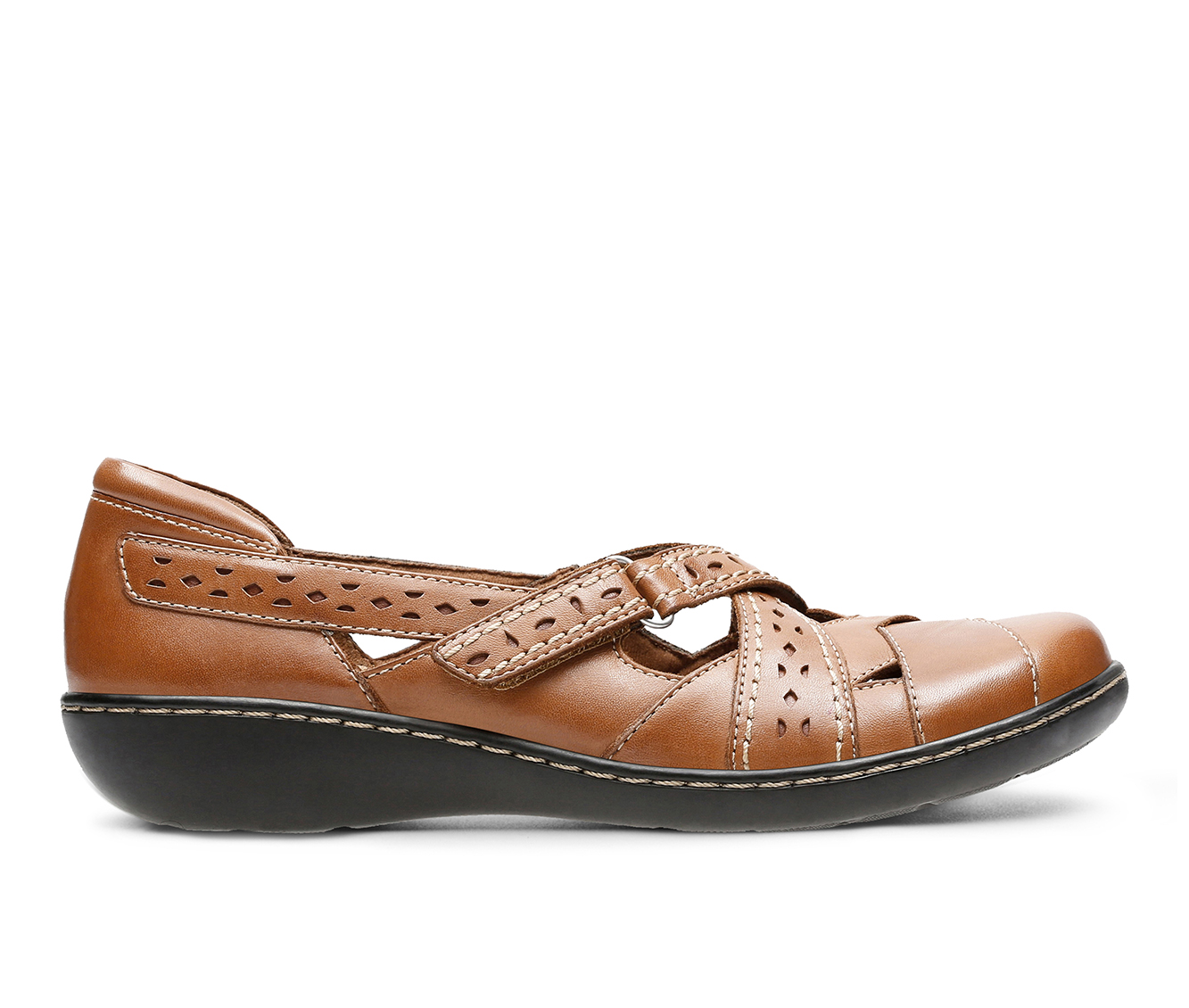 Clarks Ashland Spin Q Women's Shoe (Brown Leather)