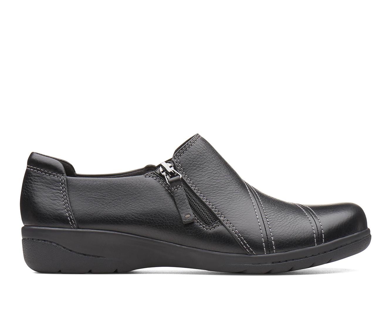 Clarks Cheyn Clay Women's Shoe (Black Leather)