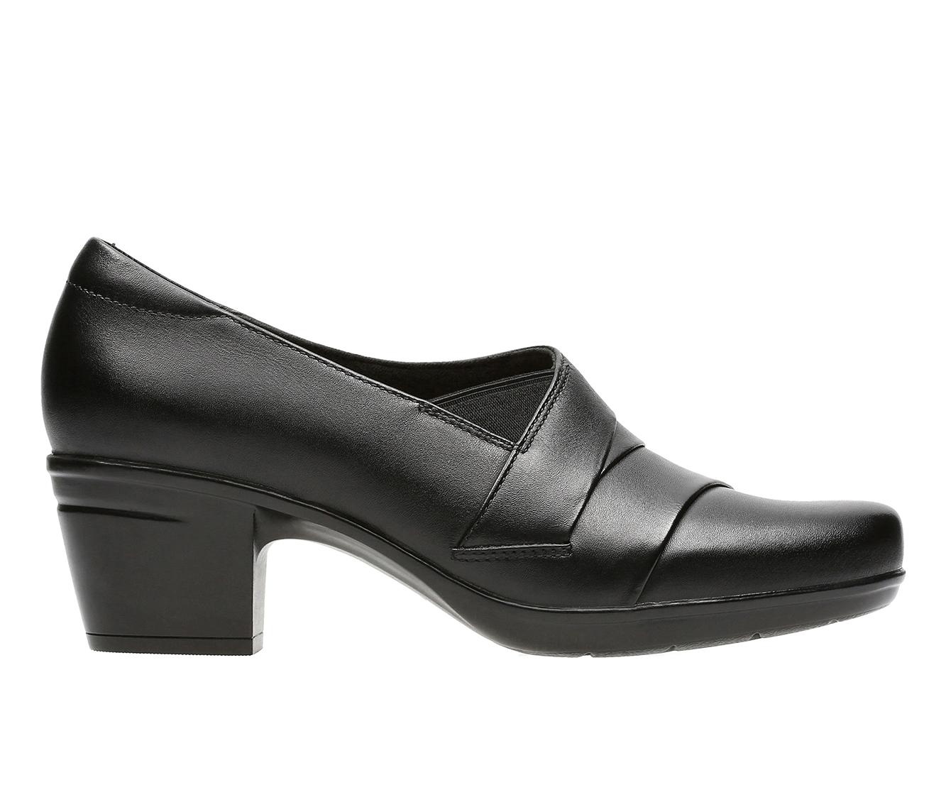 Clarks Emslie Warbler Women's Shoe (Black Leather)