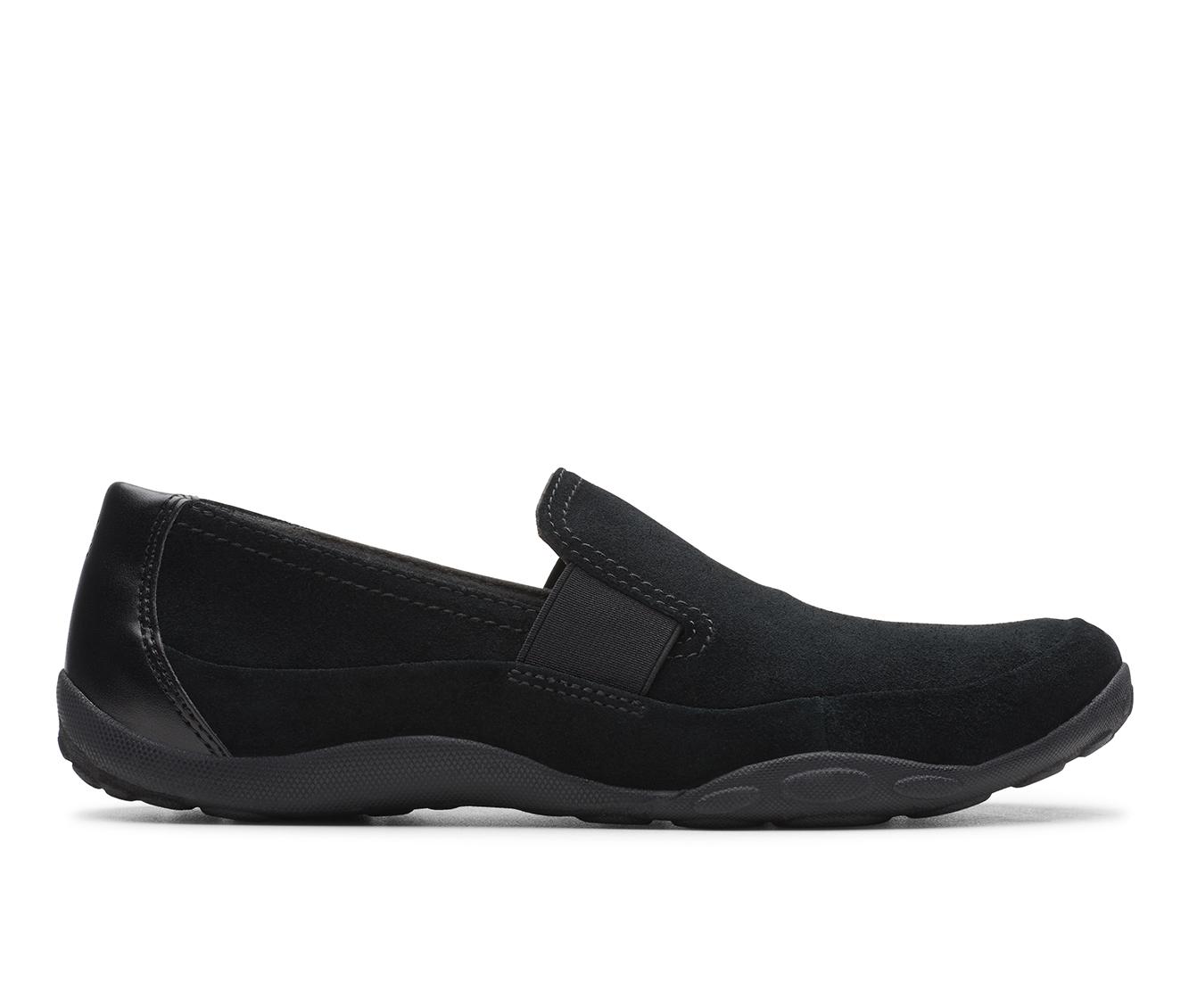 Clarks Haley Park Women's Shoe (Black Suede)