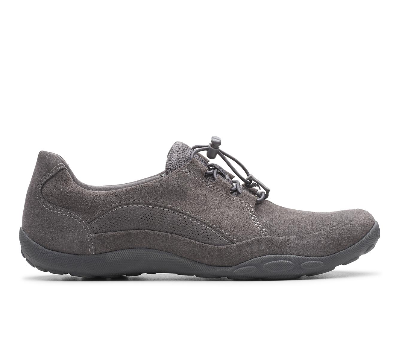Clarks Haley Rhea Women's Shoe (Gray Suede)