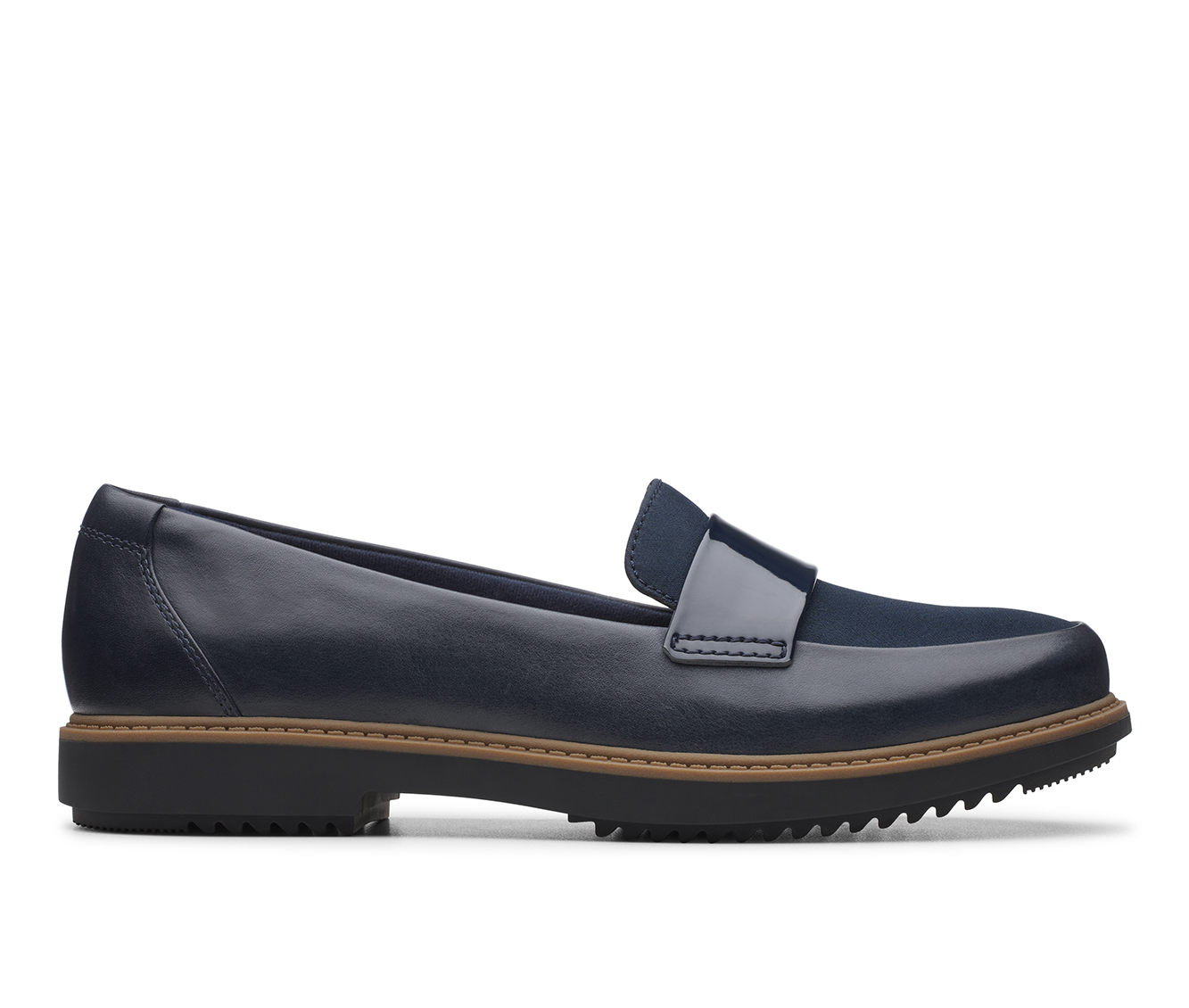 Clarks Raisie Arlie Women's Shoe (Blue Leather)