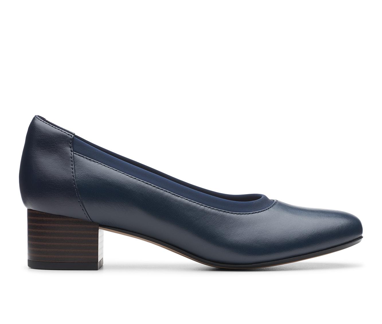 Clarks Chartli Fame Women's Dress Shoe (Blue Leather)