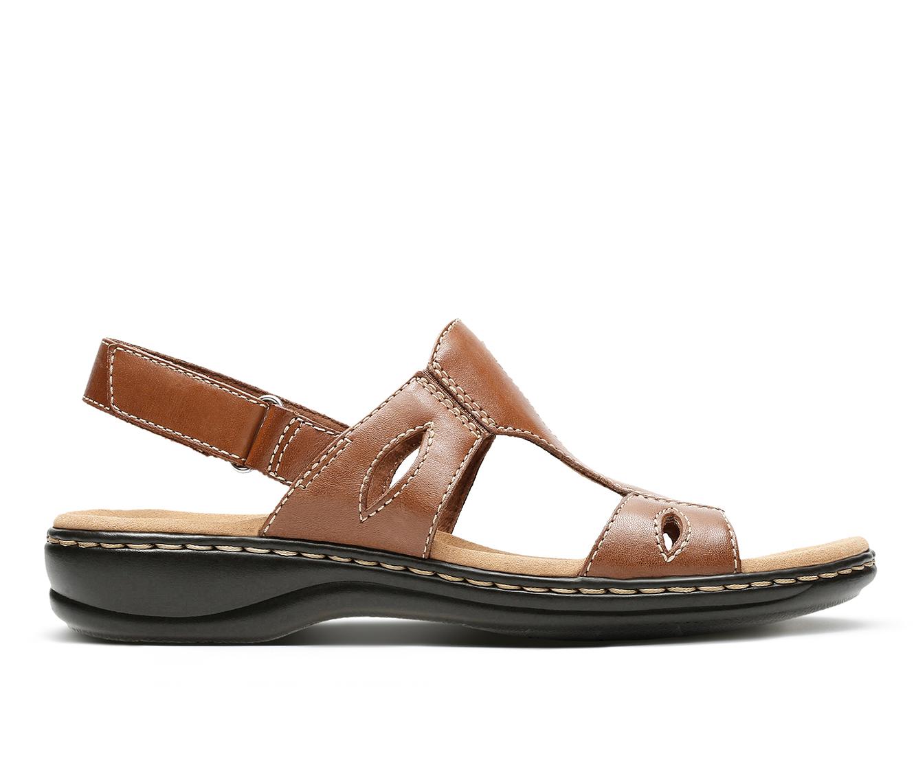 Clarks Leisa Lakelyn Women's Sandal (Brown Leather)