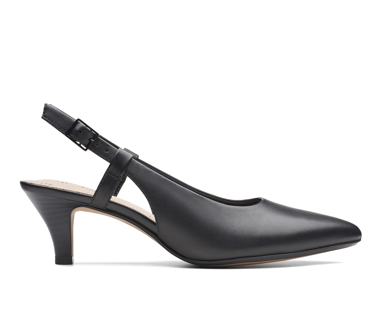 Clarks Linvale Loop Women's Dress Shoe (Black Leather)