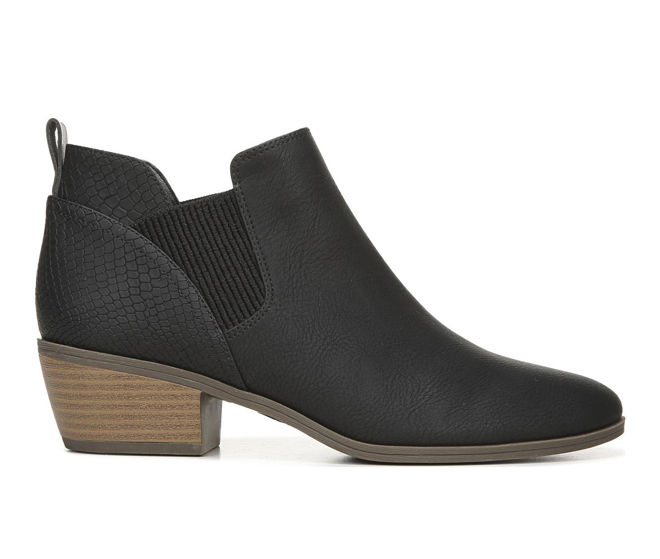 Dr. Scholls Bella Women's Boot (Black Faux Leather)