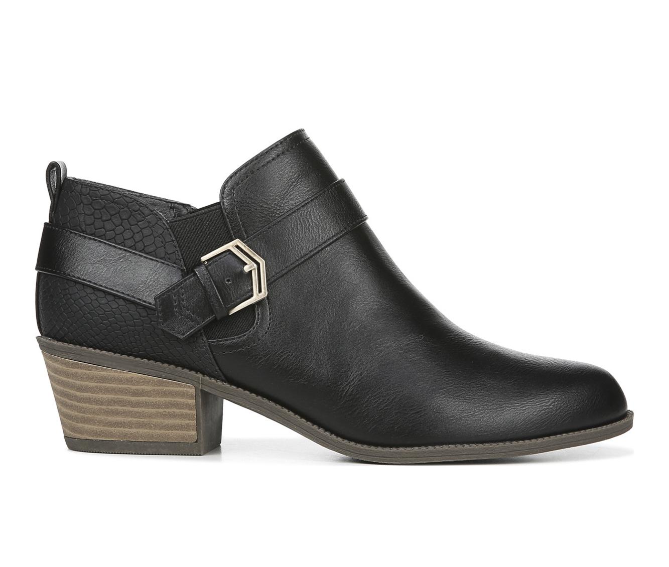 Dr. Scholls Bobbi Women's Boot (Black Faux Leather)