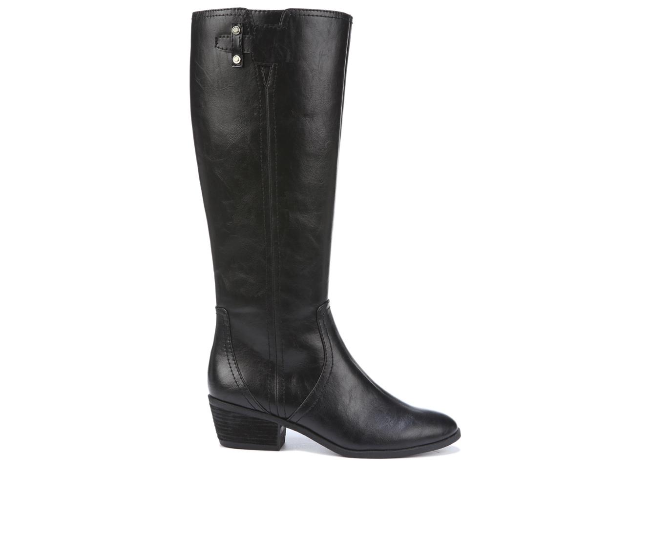 Dr. Scholls Brilliance Women's Boot (Black Faux Leather)