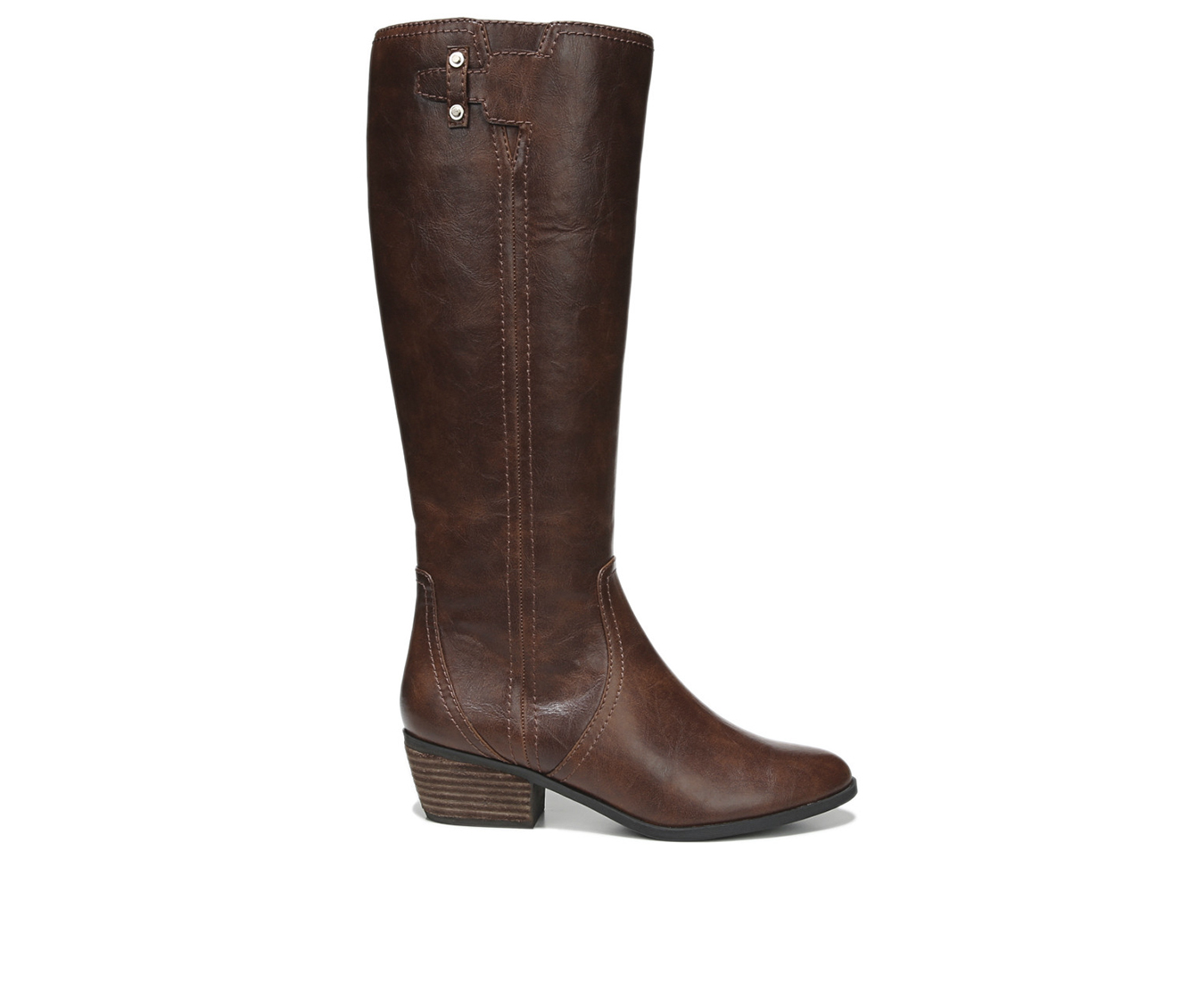 Dr. Scholls Brilliance Women's Boot (Brown Faux Leather)