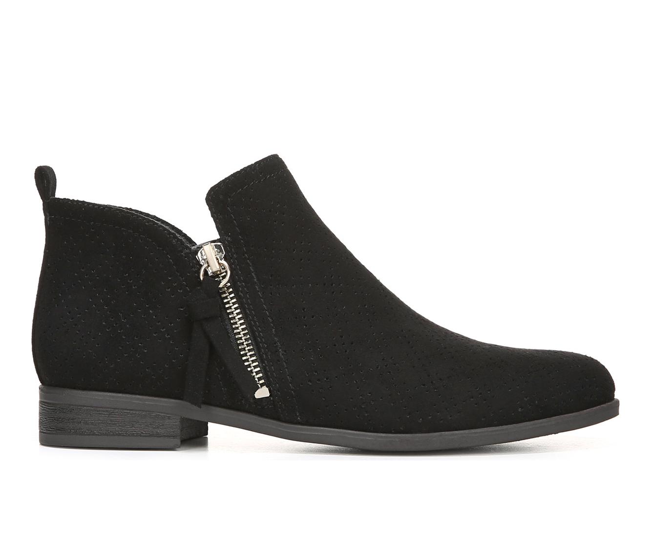 Dr. Scholls Rate Zip Women's Boot (Black Canvas)