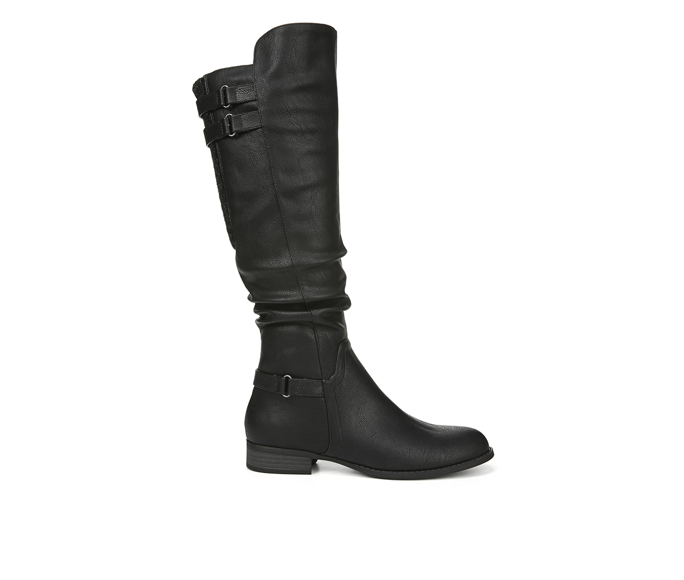 LifeStride Faunia Women's Boot (Black Faux Leather)