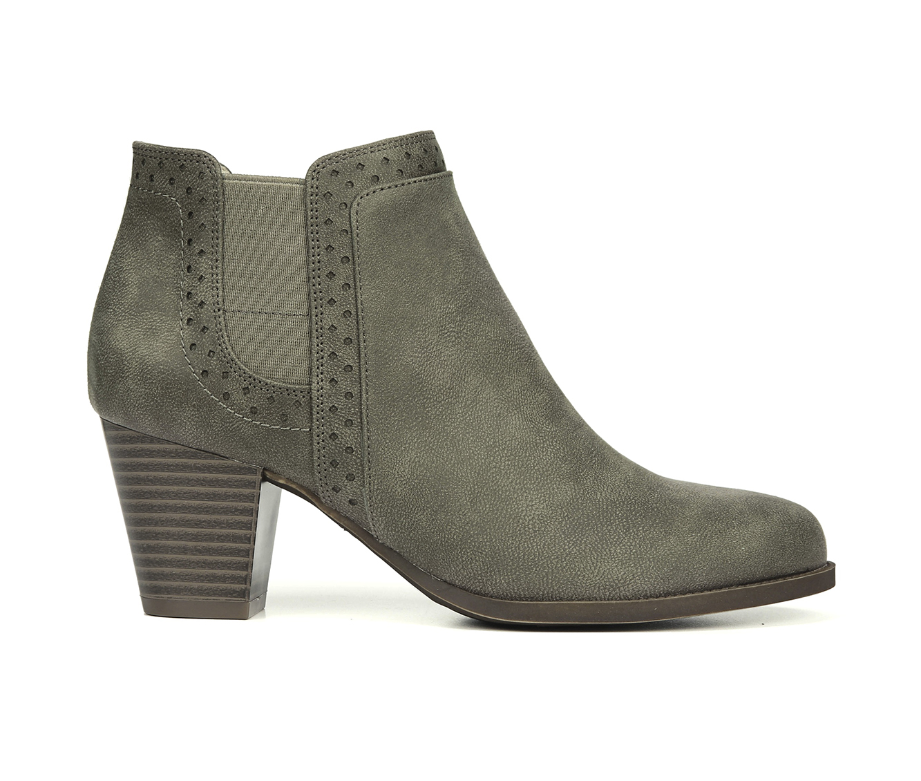 LifeStride James Women's Boot (Gray Faux Leather)