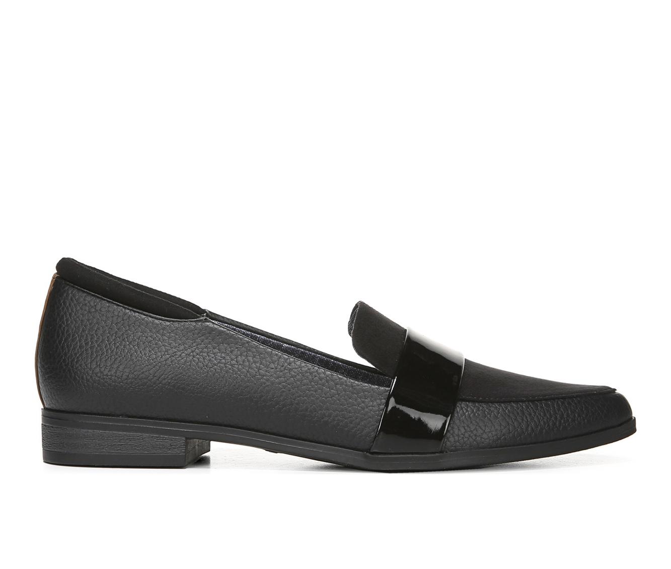 Dr. Scholls Leo Women's Shoe (Black Faux Leather)
