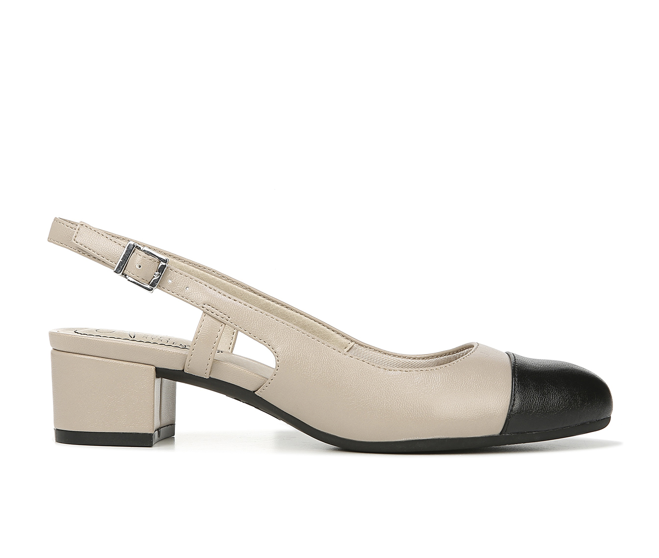 LifeStride Everdeen Women's Dress Shoe (Beige Faux Leather)