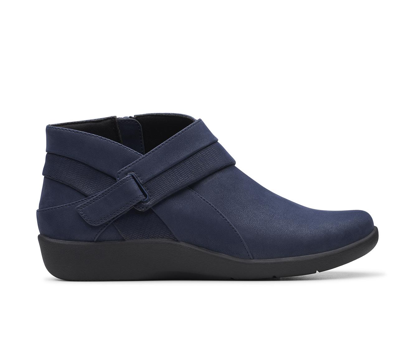 Clarks Sillian Rani Women's Boot (Blue Canvas)