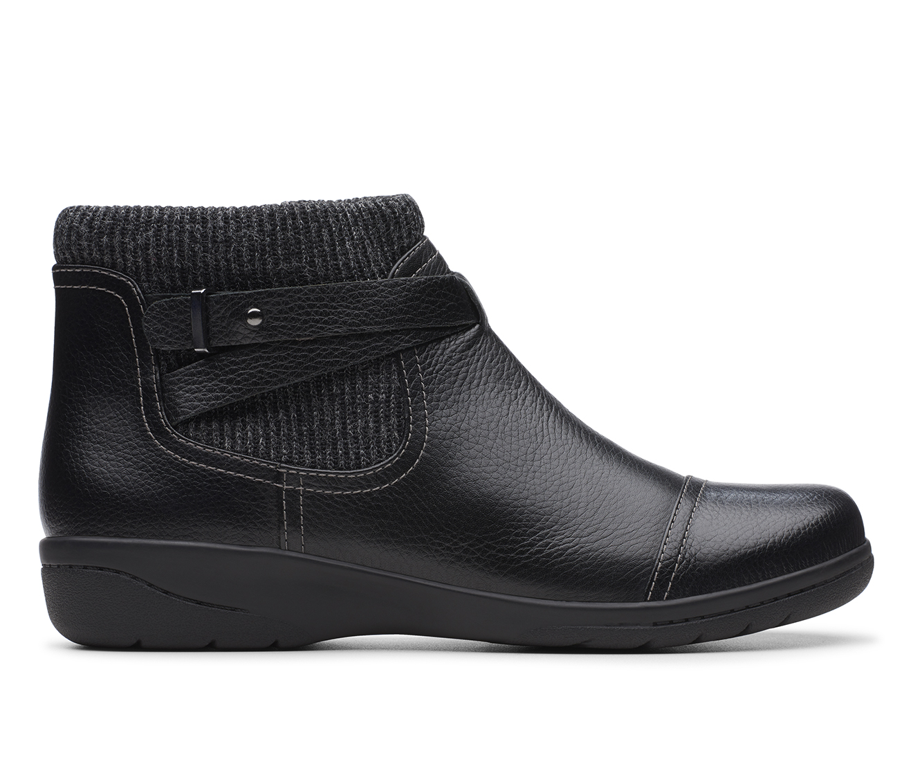 Clarks Cheyn Kisha Women's Boot (Black Leather)