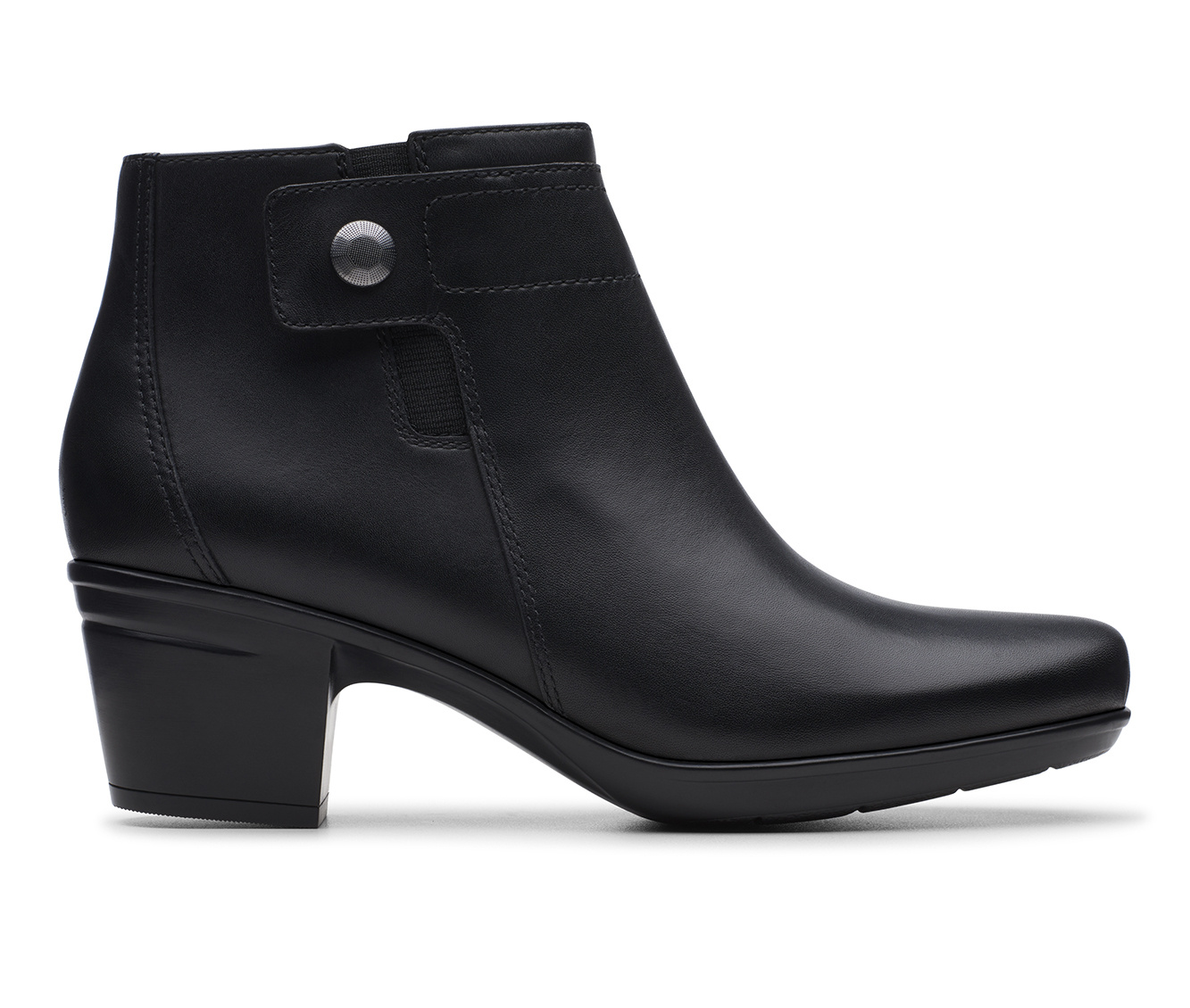 Clarks Emslie Jada Women's Boot (Black Leather)
