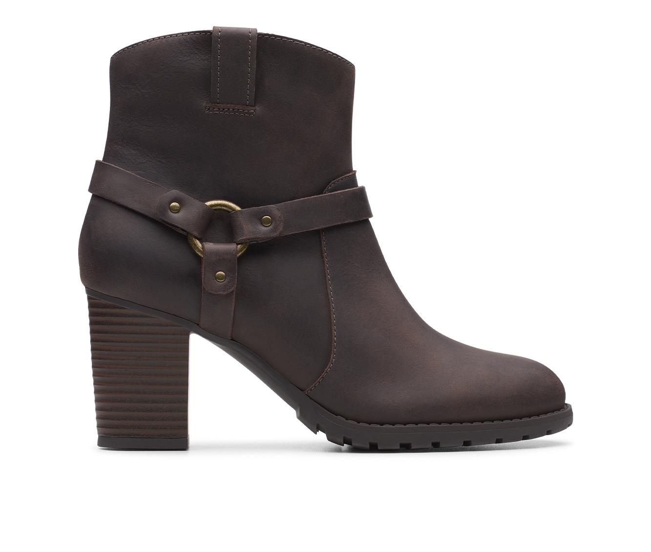 Clarks Verona Rock Women's Boot (Brown Leather)