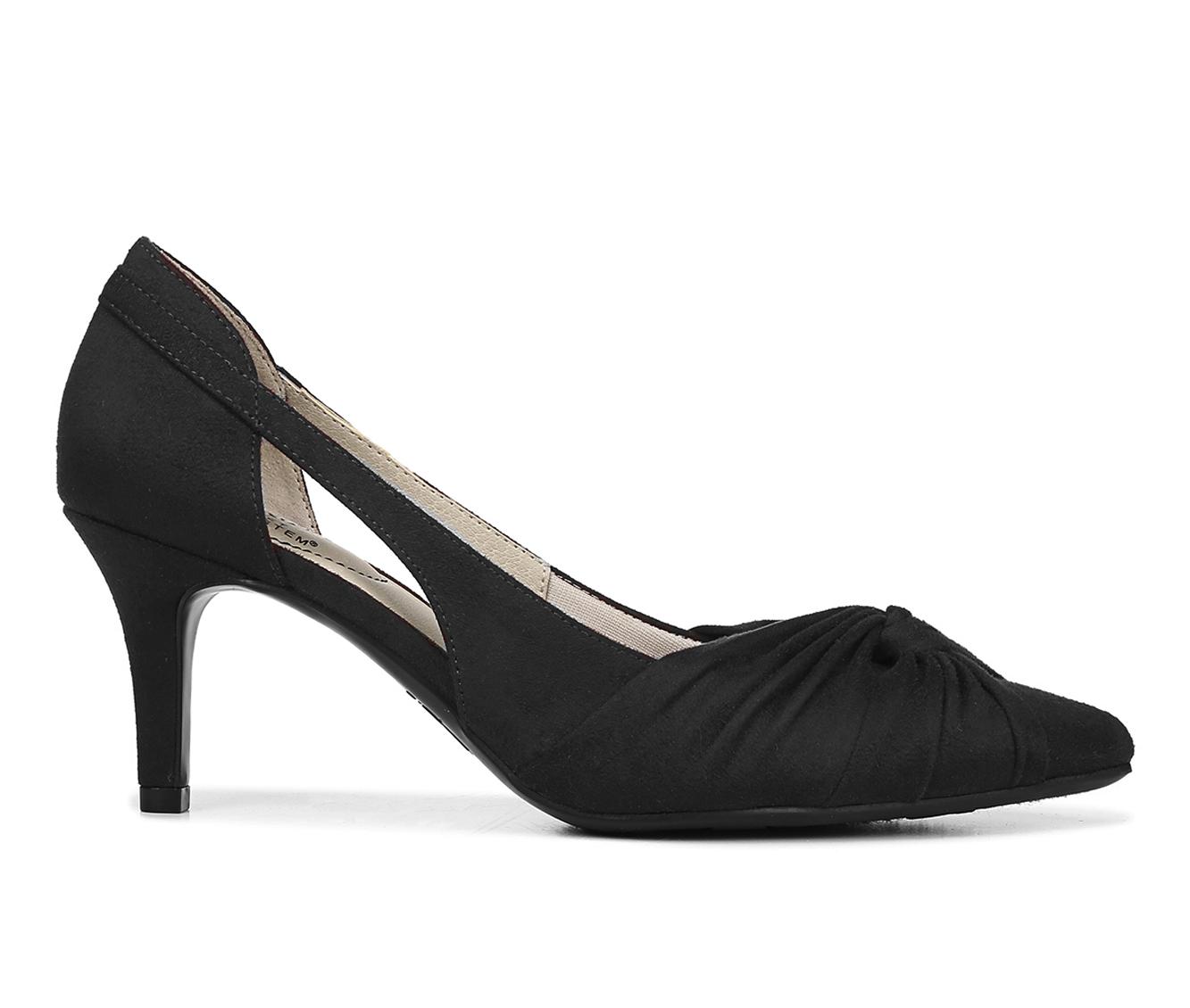 LifeStride Sidney Women's Dress Shoe (Black Canvas)