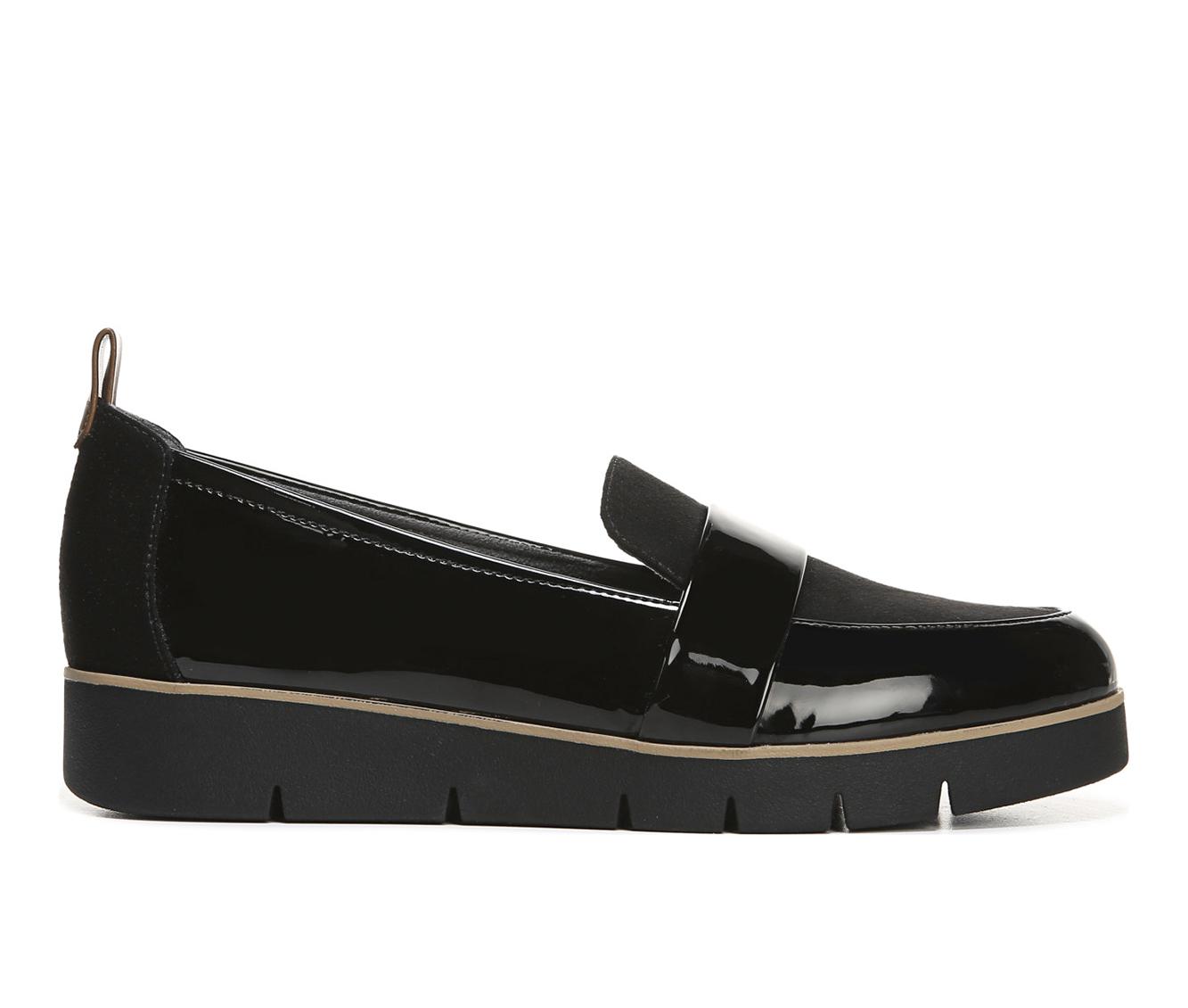 Dr. Scholls Webster Women's Shoe (Black Faux Leather)