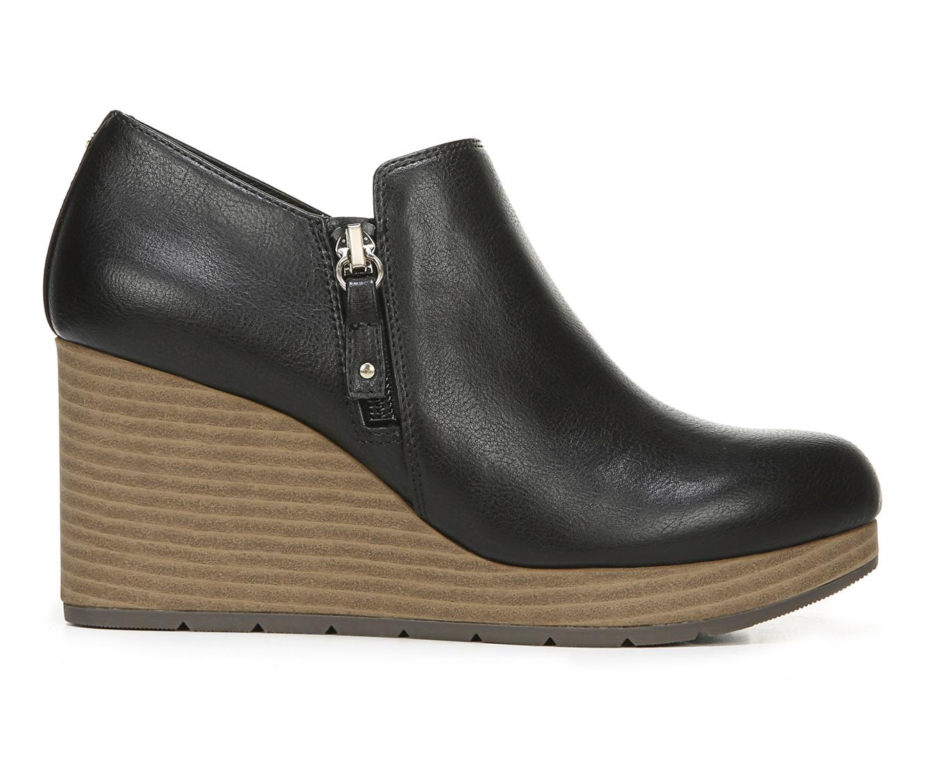 Dr. Scholls Whats Up Women's Shoe (Black Faux Leather)