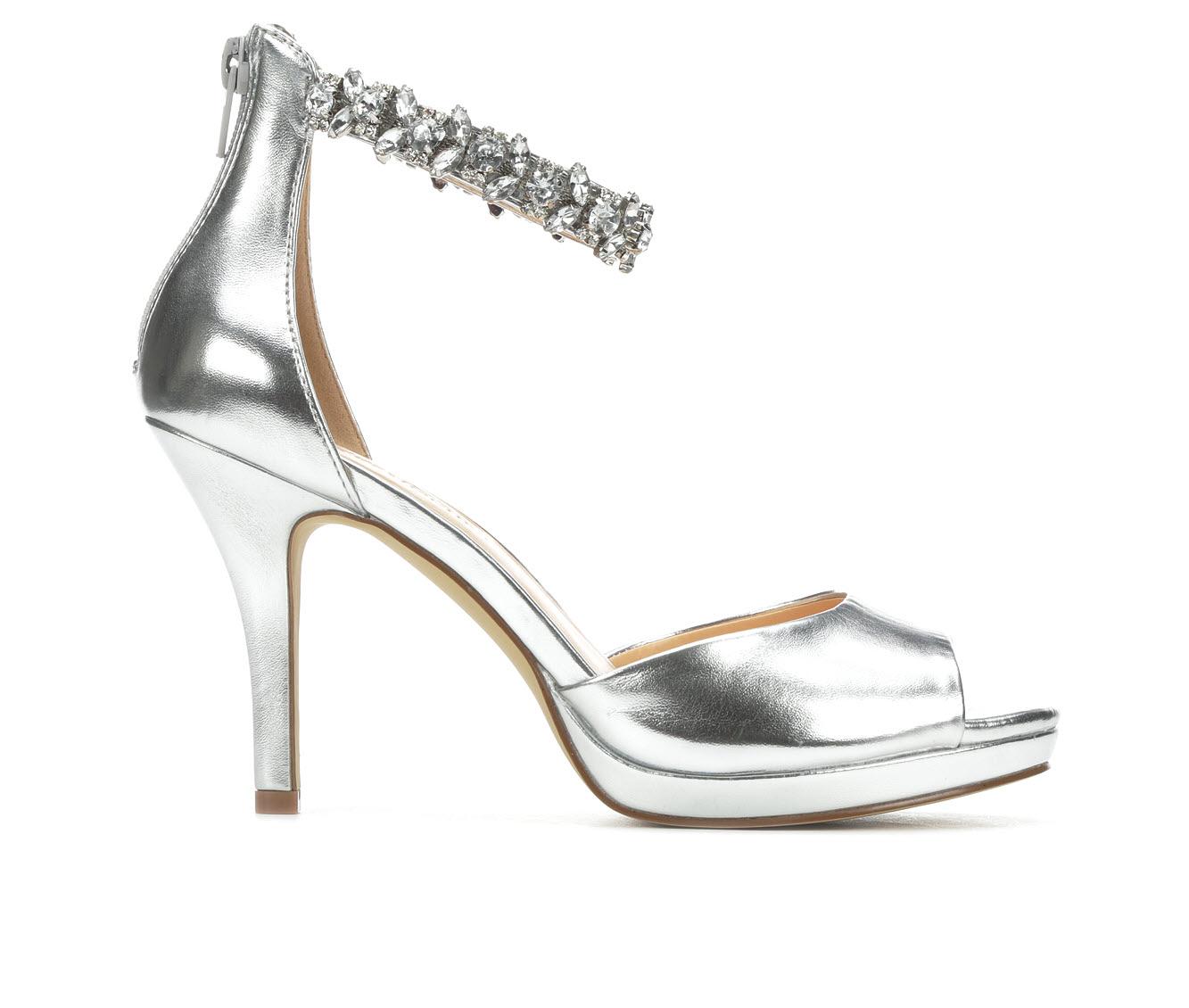 American Glamour BadgleyM Ximena Women's Dress Shoe (Silver Canvas)