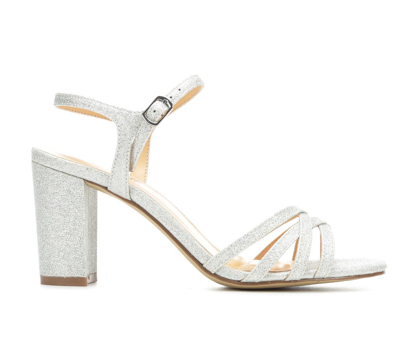 American Glamour BadgleyM Xandra Women's Dress Shoe (Silver Canvas)