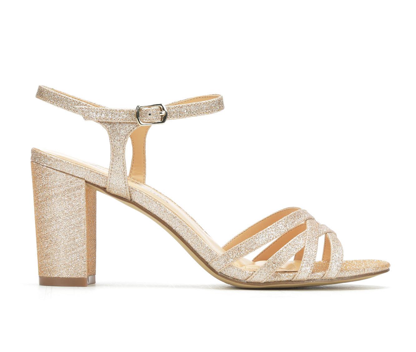 American Glamour BadgleyM Xandra Women's Dress Shoe (Gold Canvas)