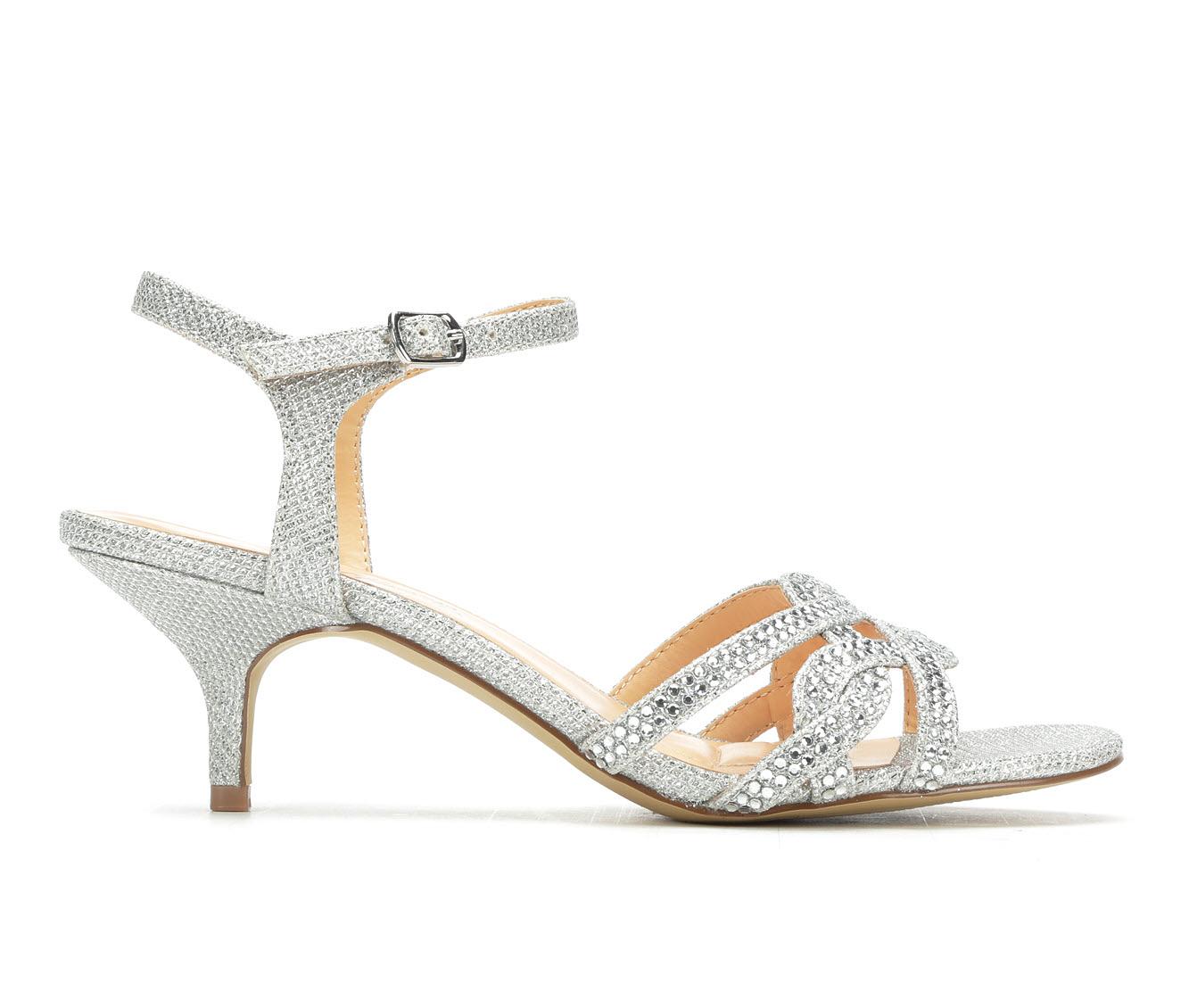 American Glamour BadgleyM Xabrina Women's Dress Shoe (Silver Canvas)