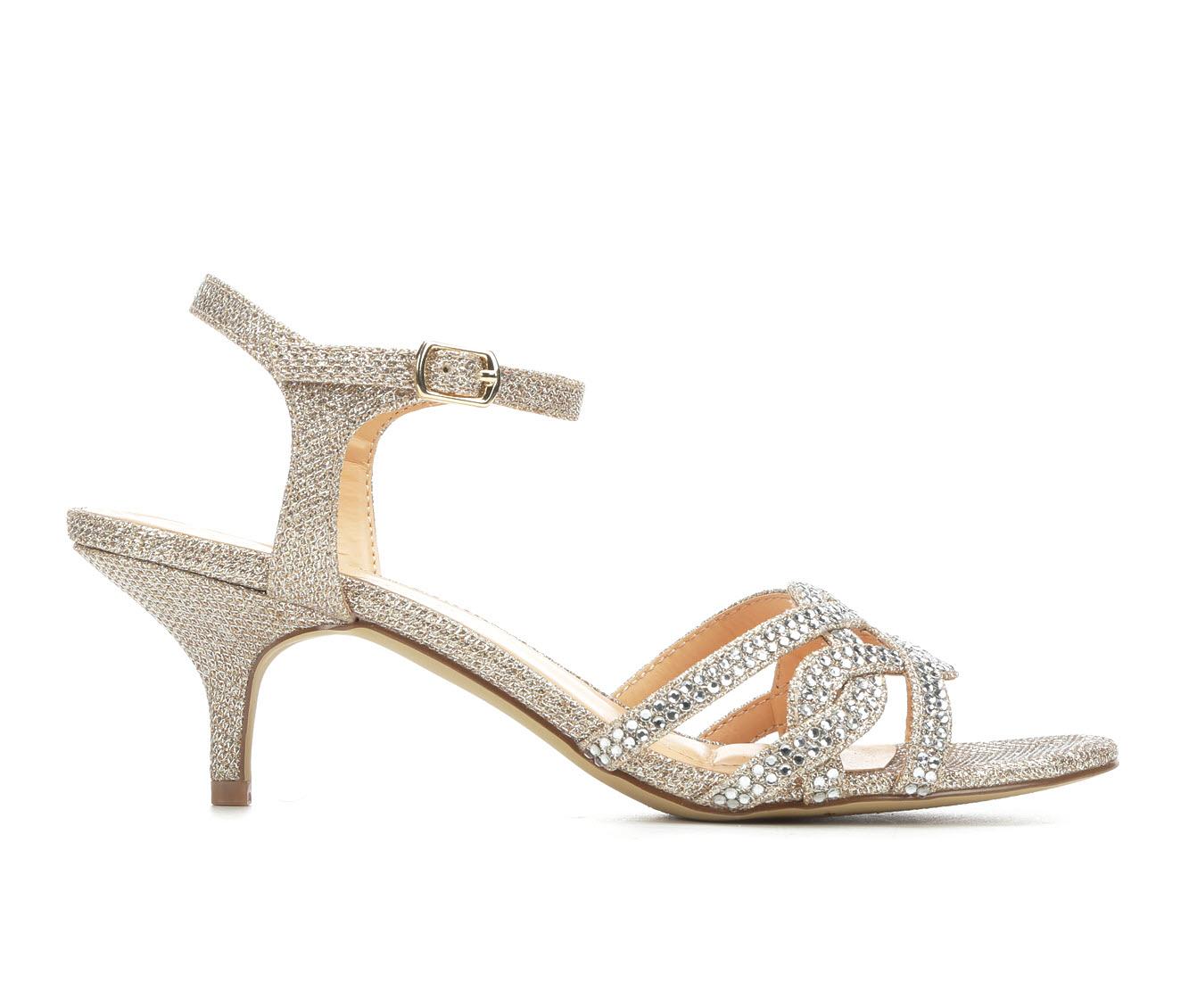 American Glamour BadgleyM Xabrina Women's Dress Shoe (Gold Canvas)
