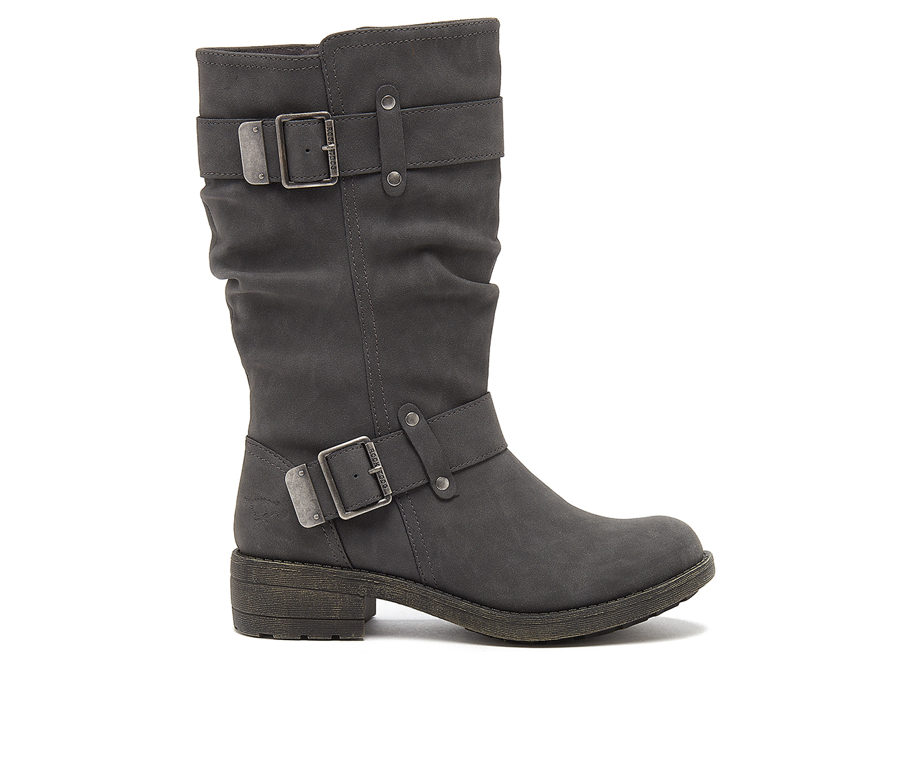 Rocket Dog Trumble Women's Boot (Gray Faux Leather)