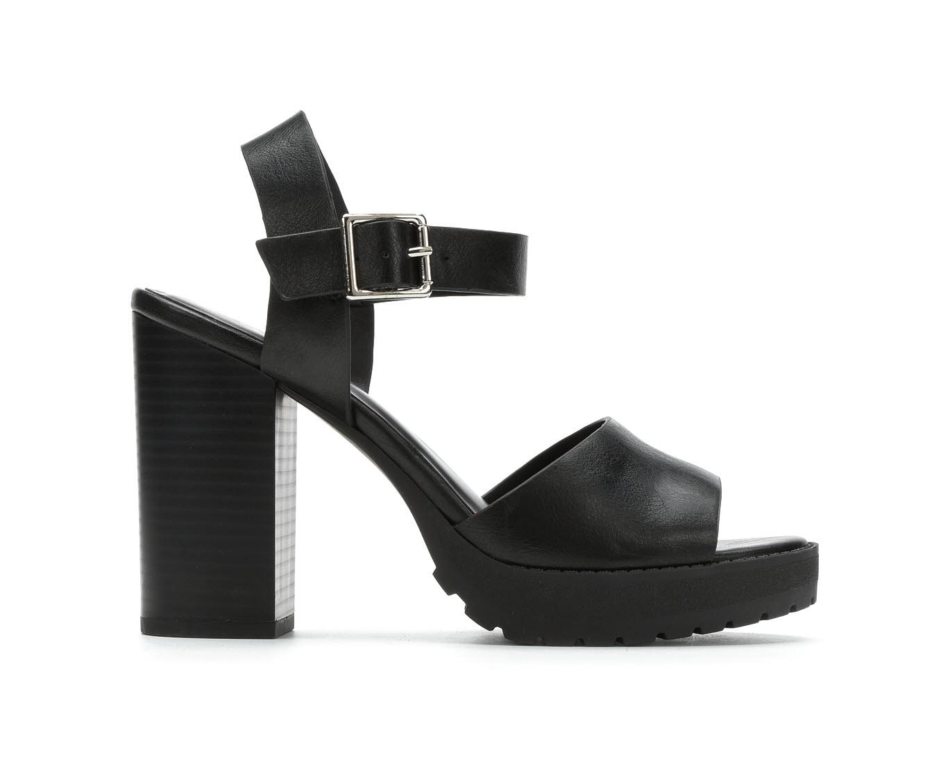 Soda Crush-S Women's Dress Shoe (Black Faux Leather)