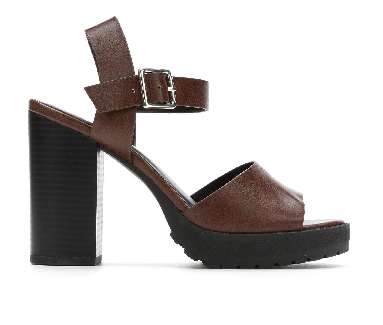 Soda Crush-S Women's Dress Shoe (Brown Faux Leather)
