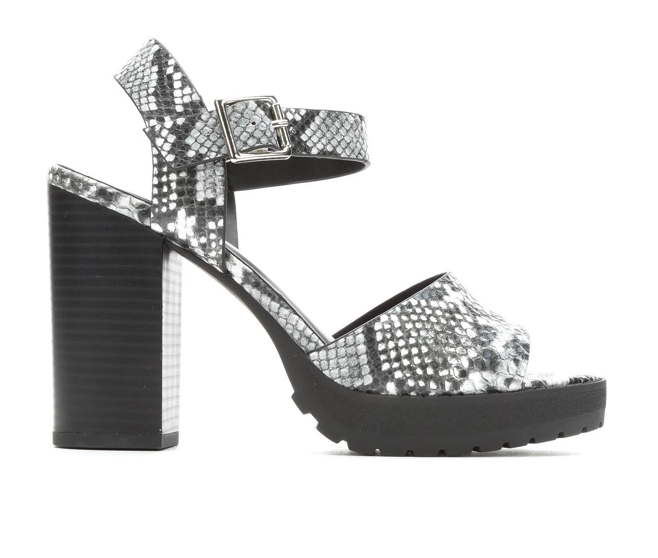 Soda Crush-S Women's Dress Shoe (Gray Faux Leather)