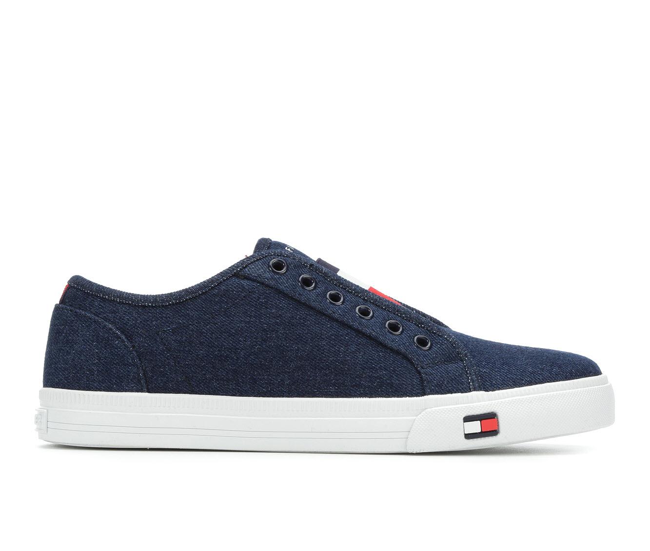 Tommy Hilfiger Anni Women's Shoe (Blue Faux Leather)