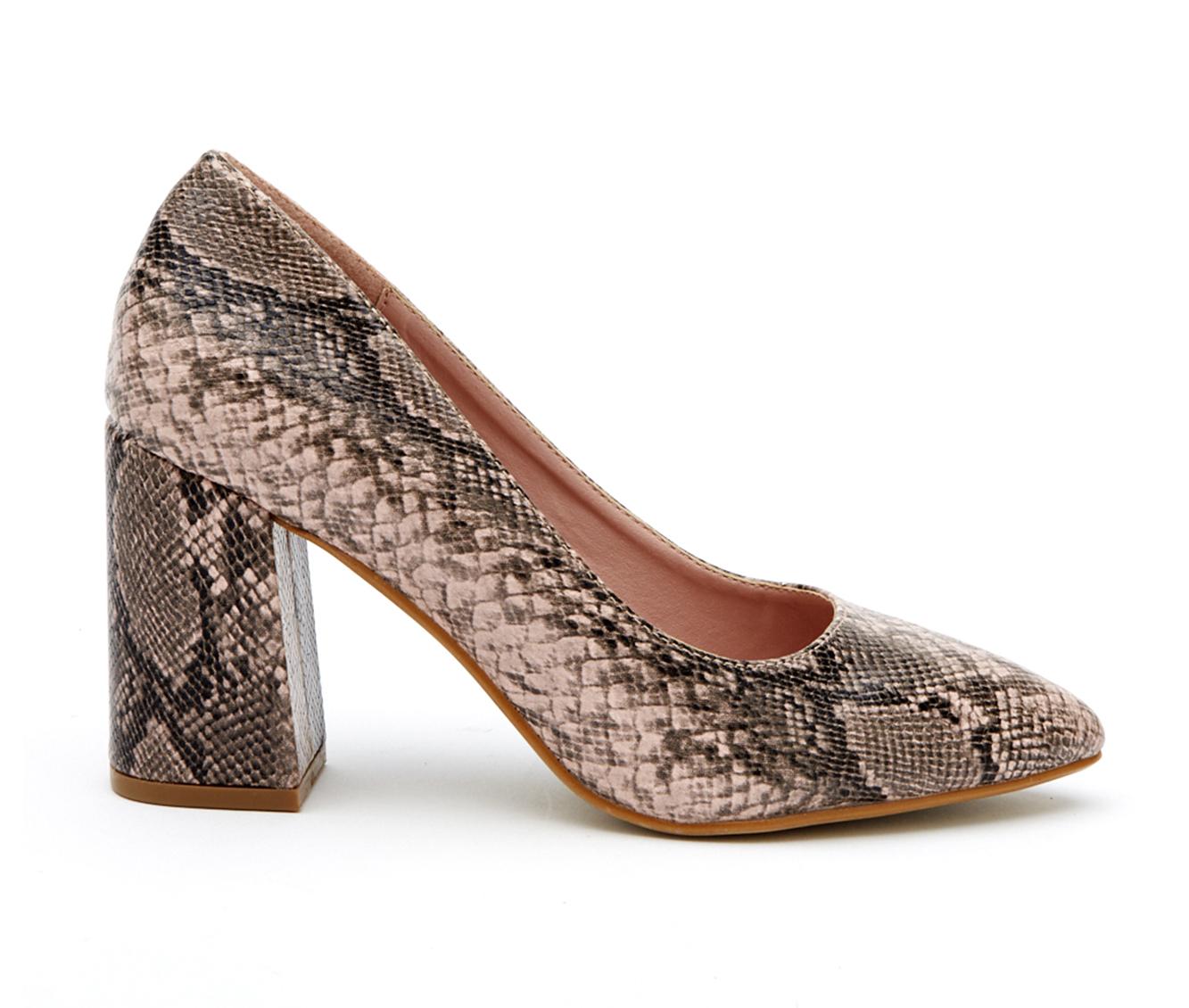 Coconuts Gertie Women's Dress Shoe (Pink Faux Leather)