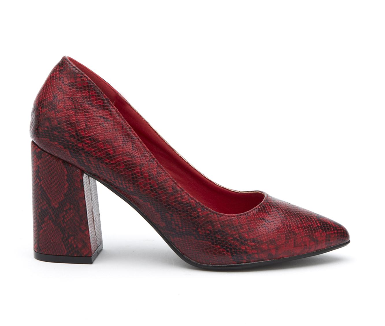 Coconuts Gertie Women's Dress Shoe (Red Faux Leather)