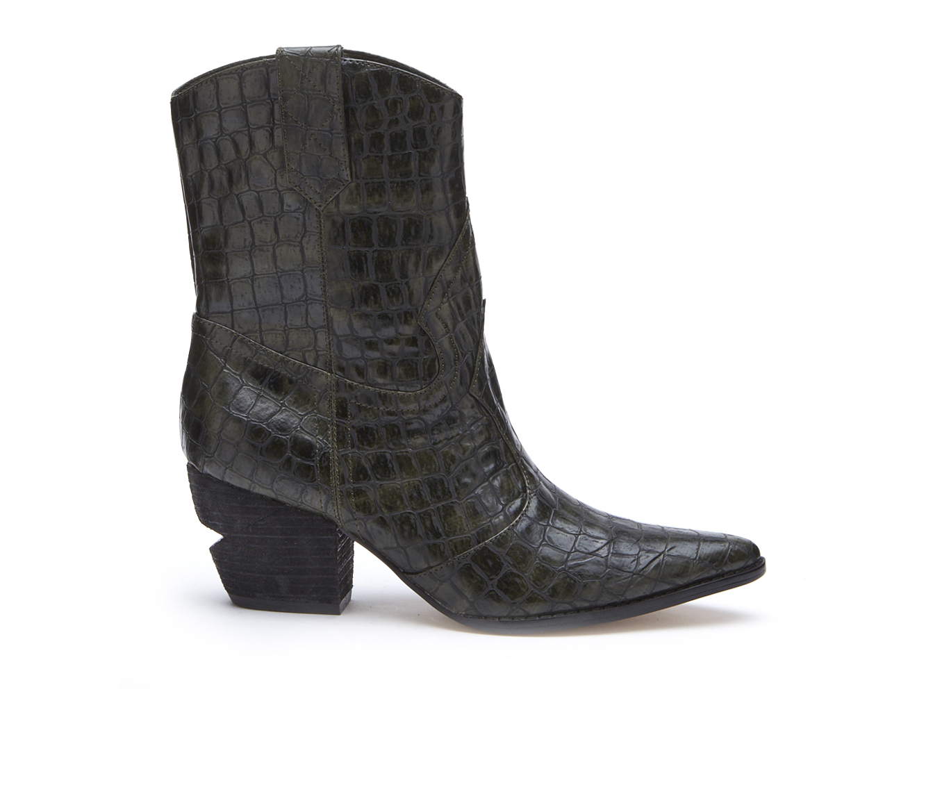 Coconuts After Dark Women's Boot (Green Faux Leather)