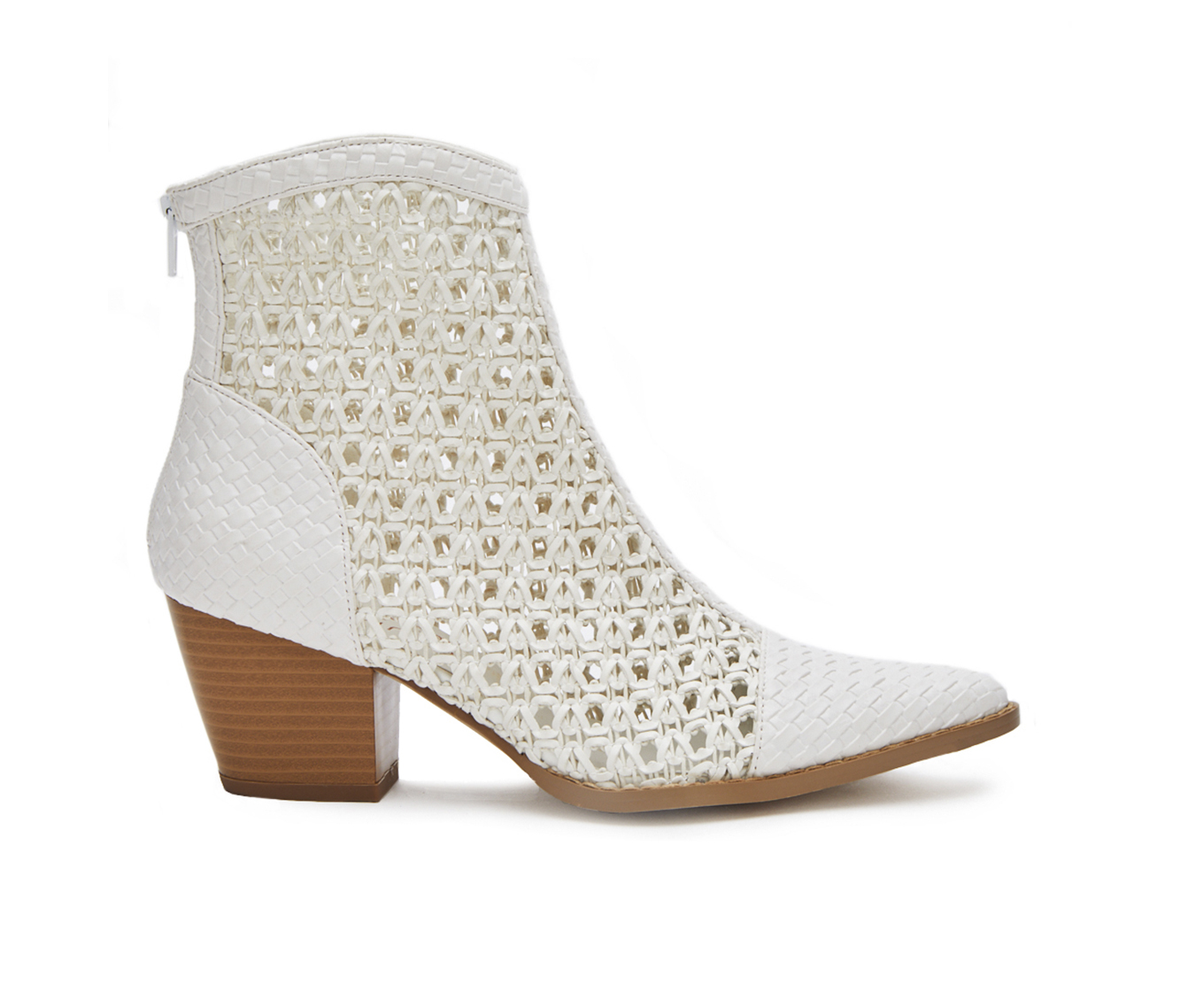 Coconuts Caught Up Women's Boot (White Faux Leather)